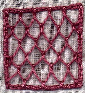 Needlelace- A Nine-Lesson Tutorial - PDF Format- This is a nine-part lesson which takes you through all the basic steps to create several different needlelace examples. The patterns were taken from Therese de Dillmont's work (Lacis reprint) Needlelace.     If you follow these steps in order, you will be well on your way to learn more and use finer threads. These tutorials are perfect for beginners.
