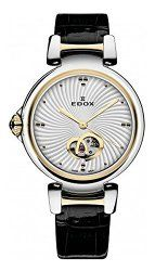 Edox Women's 85025 357RC AIR LaPassion Analog Display Swiss Automatic Black Watch