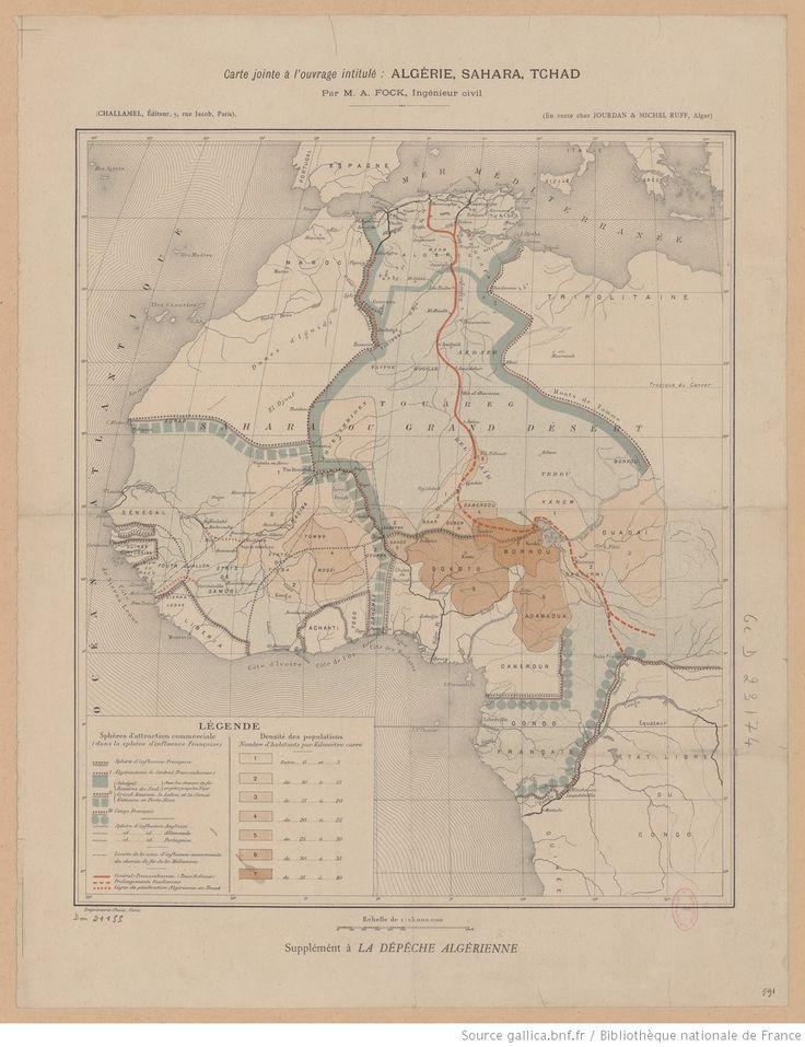 [Carte de l'Afrique française] Jointe à l'ouvrage intitulé