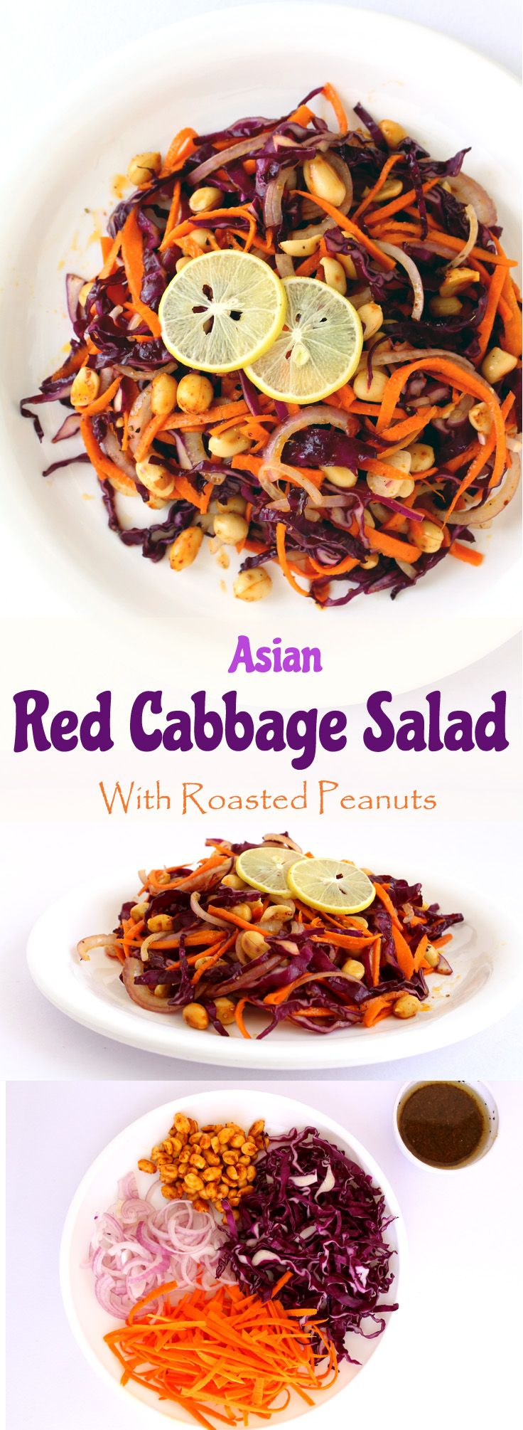 Asian Red Cabbage Salad – Shredded red cabbage, carrots and onions ...