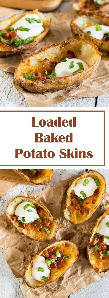 Loaded Baked Potato Skins via @foxvalleyfoodie