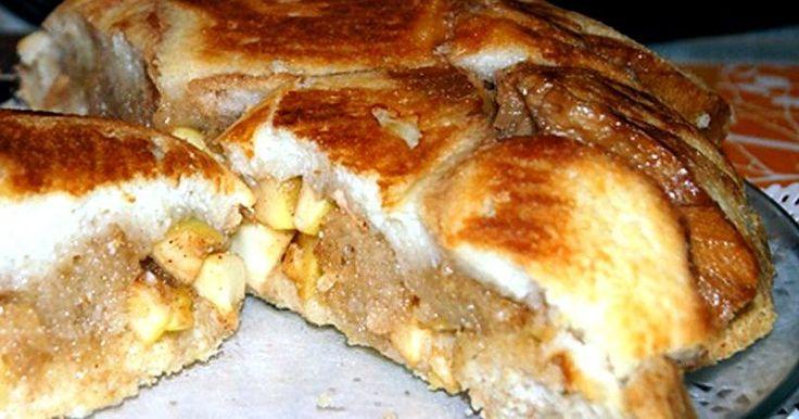 Шарлотка яблочная из белого хлеба