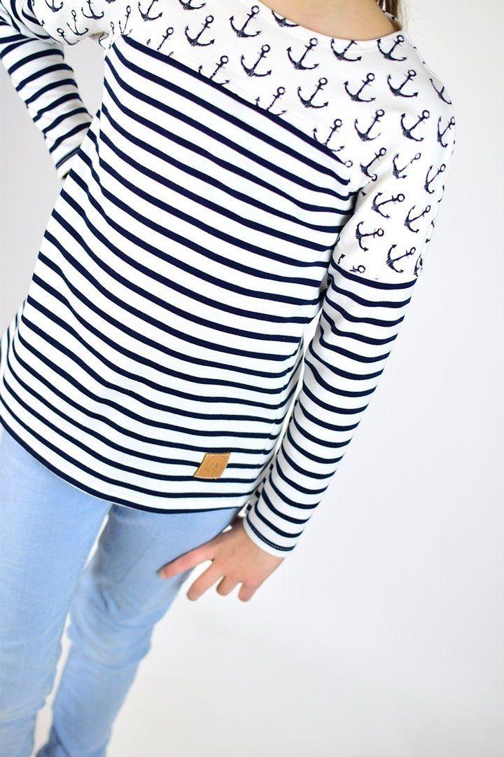 Schnittmuster / Ebook lillesol basics No.53 Frühlingsshirt / Nähen Shirt / Sewing pattern shirt
