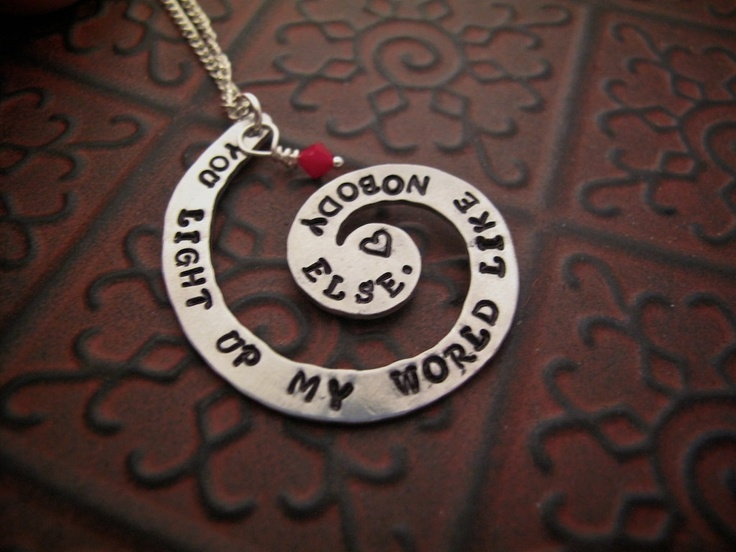 One Direction Necklace Hand Stamped Necklace You Light Up My World Like Nobody Else. $15.00, via Etsy.: Necklaces Hands, Trav'Lin Lights, Gifts Ideas, One Direction Necklaces, Hand Stamped Necklace, Handsome Boys, Jewelry, My World, Hands Stamps Necklaces