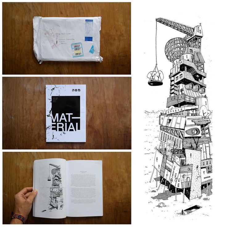 """Today I received a very special delivery from Israel. It's @massa.arch #01 in which I had the honor to collaborate with a drawing about """"Material"""". Thanks a lot for the invitation! and congratulations for the amazing job you're doing. #kevcuev..."""