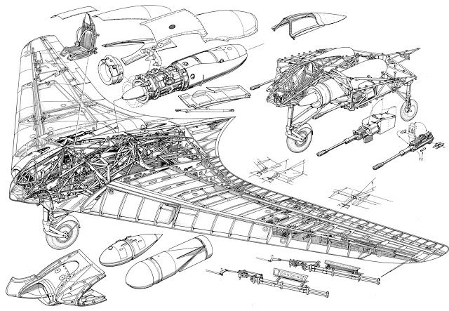 The Modelling News: Review build Pt V: Zoukei-Mura's Horten Ho 229 - the Horten with no clothes…