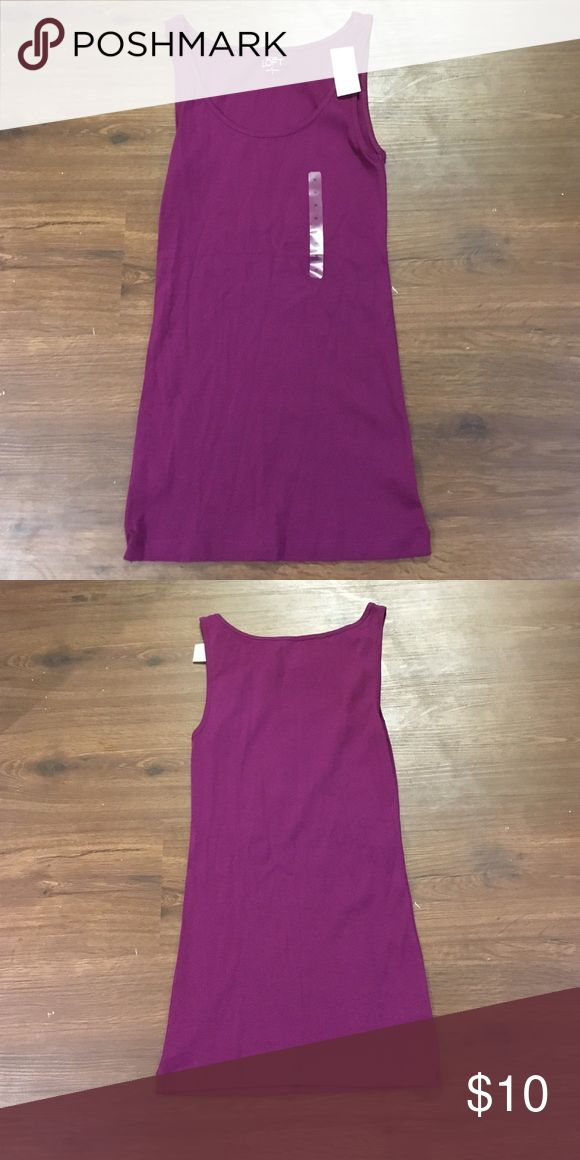 Basic Tank Top from Anne Taylor Loft Basic purple tank top from Ann Taylor Loft! LOFT Tops Tank Tops
