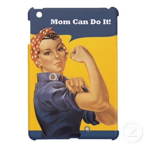 Mom Can Do It Vintage Case iPad Mini Covers by Sand Creek Ventures