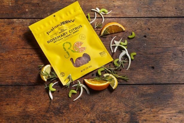 Turkey Jerky: Rosemary Citrus - 3oz Bag - All Natural & Gluten Free by Fusion Jerky on Gourmly