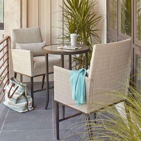 Hampton Bay Aria 3-Piece Balcony Patio Bistro Set