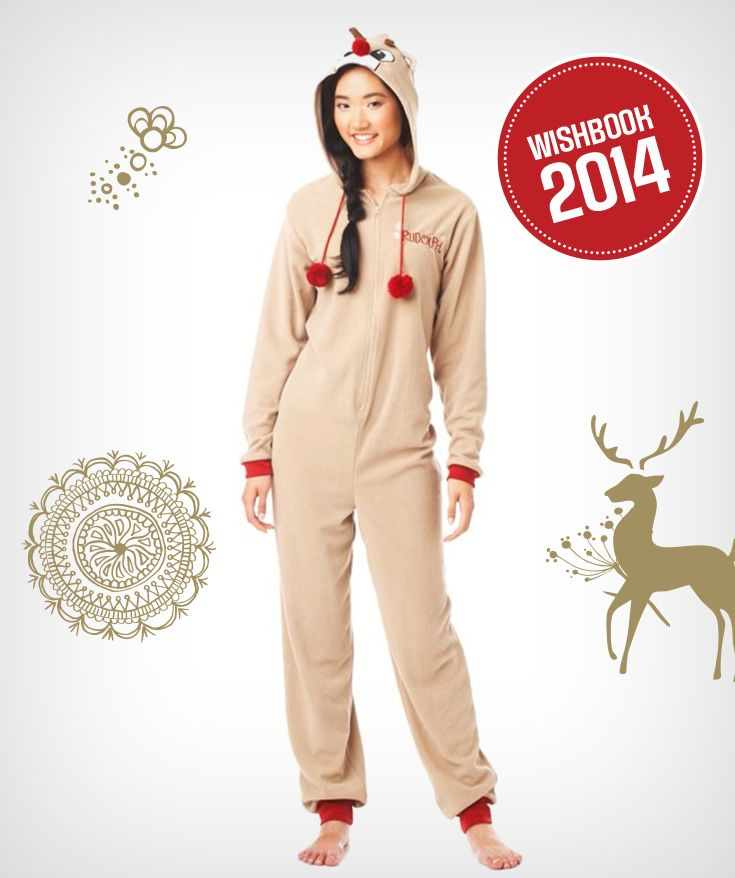 Sing and dance along to Rudolph the Red Nosed Reindeer in this onesie