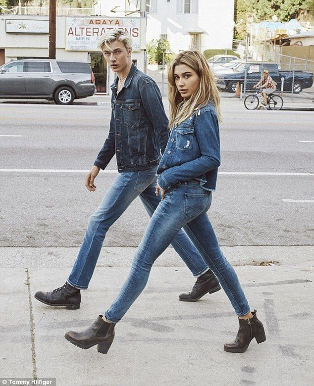 Second time around: She and Lucky also starred in a campaign for the designer's denim earlier this year
