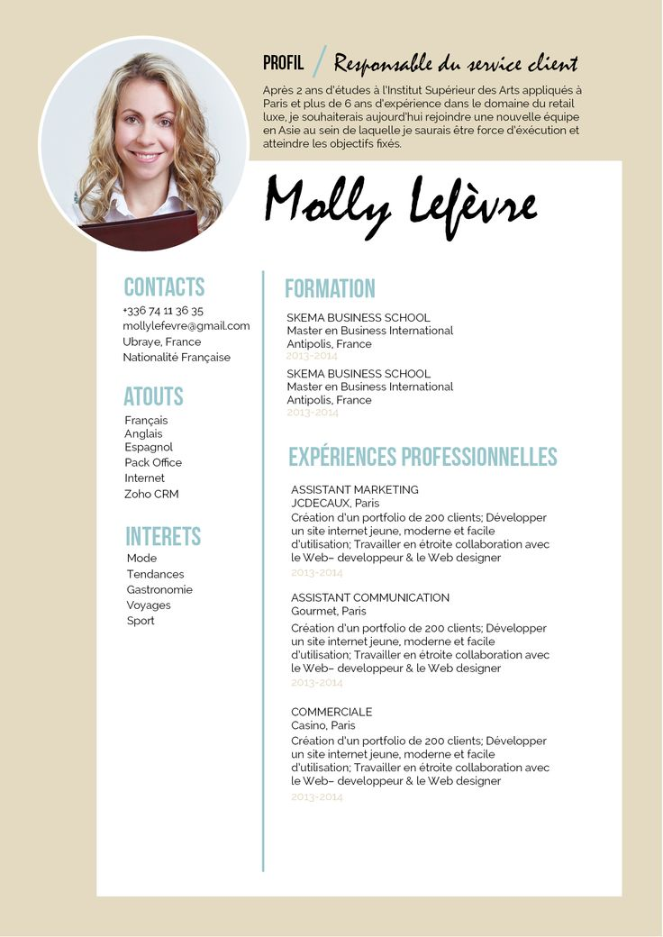 Fabuleux 20 best Currículum images on Pinterest | Resume cv, Cv template  HT22