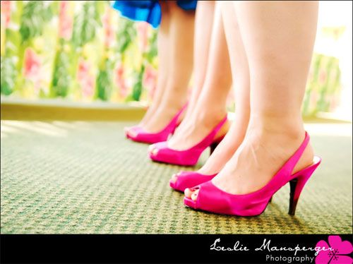 hot pink low heel | Stylish and Hot Pink Bridesmaid Shoes ...