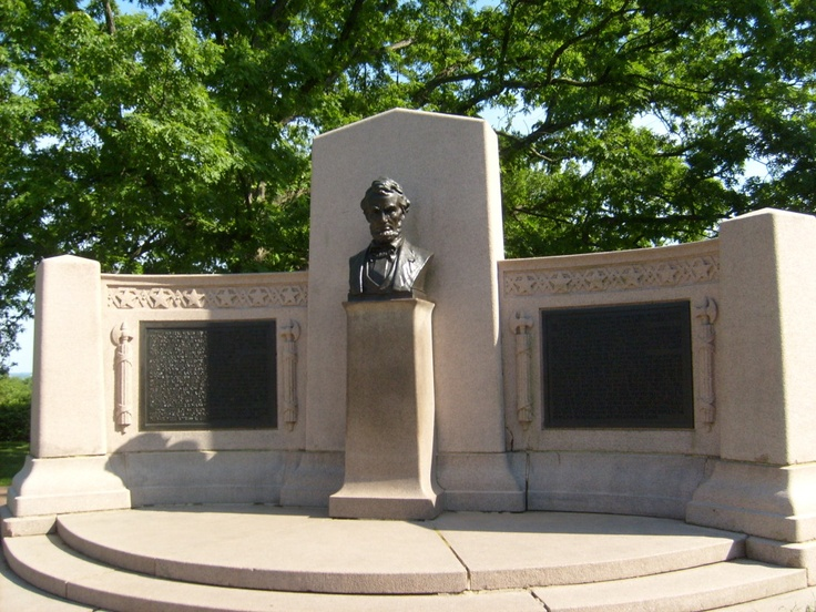 Gettysburg.  This is in the Gettysburg Military Cemetery where Lincoln made his speech.  I've been there and it is incredible! This is a Memorial commemorating that speech.