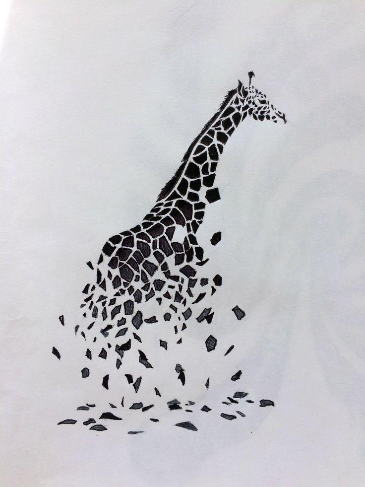 giraffe tattoo drawing