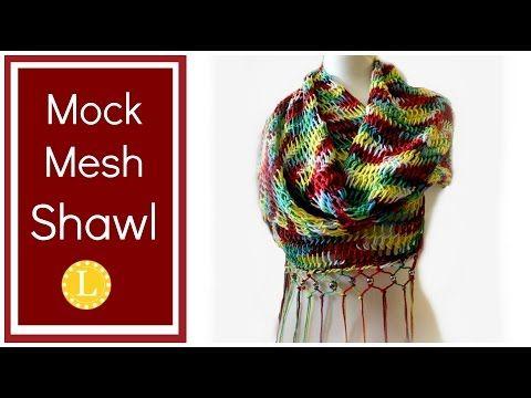 Loom Knitting Project Mock Mesh Shawl Pattern on a Circular Loom - YouTube