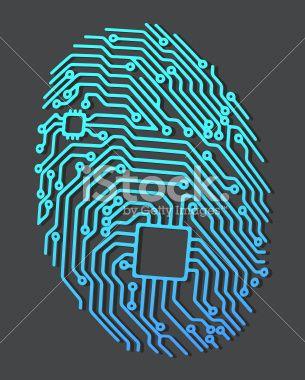 Fingerprint Royalty Free Stock Vector Art Illustration