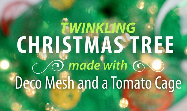 Party Ideas by Mardi Gras Outlet: Deco Mesh Christmas Tree made with a Tomato Cage: Tutorial