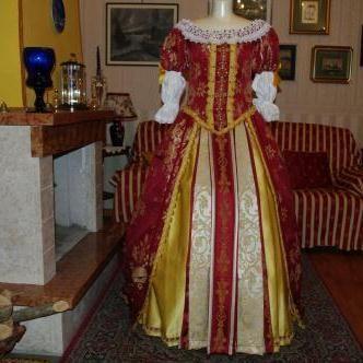 Abito Costume Storico Femminile fine 1600  francese ART SF 003