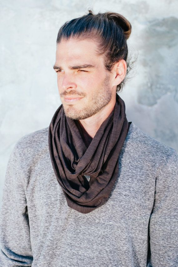 mens spring fabric burning product jersey tribal infinity jewelry fashion gray man men scarves necklace charcoal scarf grey original circle womens