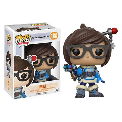 (affiliate link)  Overwatch Mei Pop! Vinyl Figure