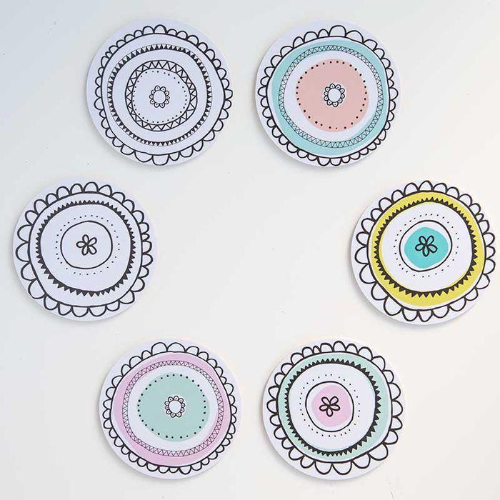 Aura-lasinaluset | Aura coasters | www.käpynen.fi