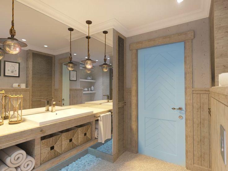 Descubra fotos de Casas de banho rústicas por Студия авторского дизайна ASHE Home. Encontre em fotos as melhores ideias e inspirações para criar a sua casa perfeita.