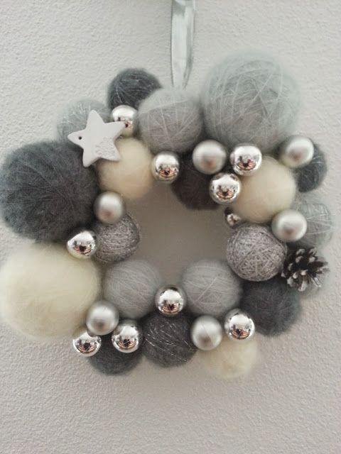Fée du tricot: Ma couronne de Noël ♥ Tuto inside