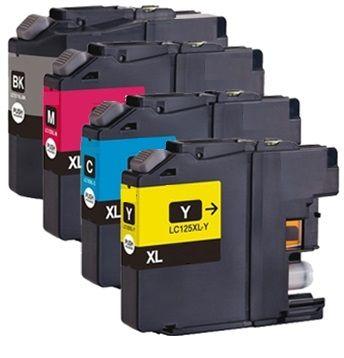 Brother LC-127XL en LC-125XL cartridges in alle kleuren in ons eigen huismerk.  Deze cartridges zijn o.a. geschikt voor de printers: • Brother DCP-J4110DW • Brother MFC-J4410DW • Brother MFC-J4510DW • Brother MFC-J4610DW • Brother MFC-J4710DW  Uiteraard van zeer hoge kwaliteit en allen met 2 jaar fabrieksgarantie!