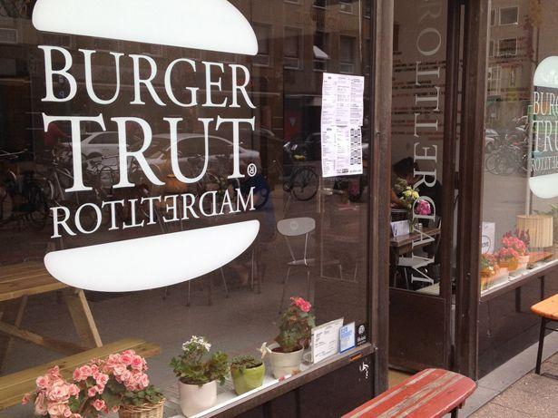 Burgertrut     Meent 129, #Rotterdam For delicious burgers, also vegetarian! #InRotterdam
