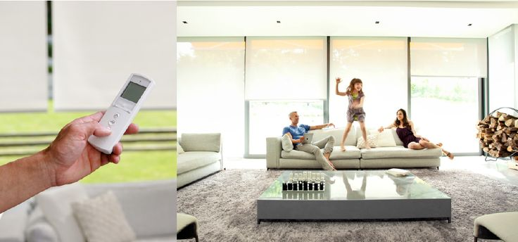 Elektryczne rolety materiałowe oparte na elektronice Somfy. Idealne do systemu inteligentnego domu Fibaro.