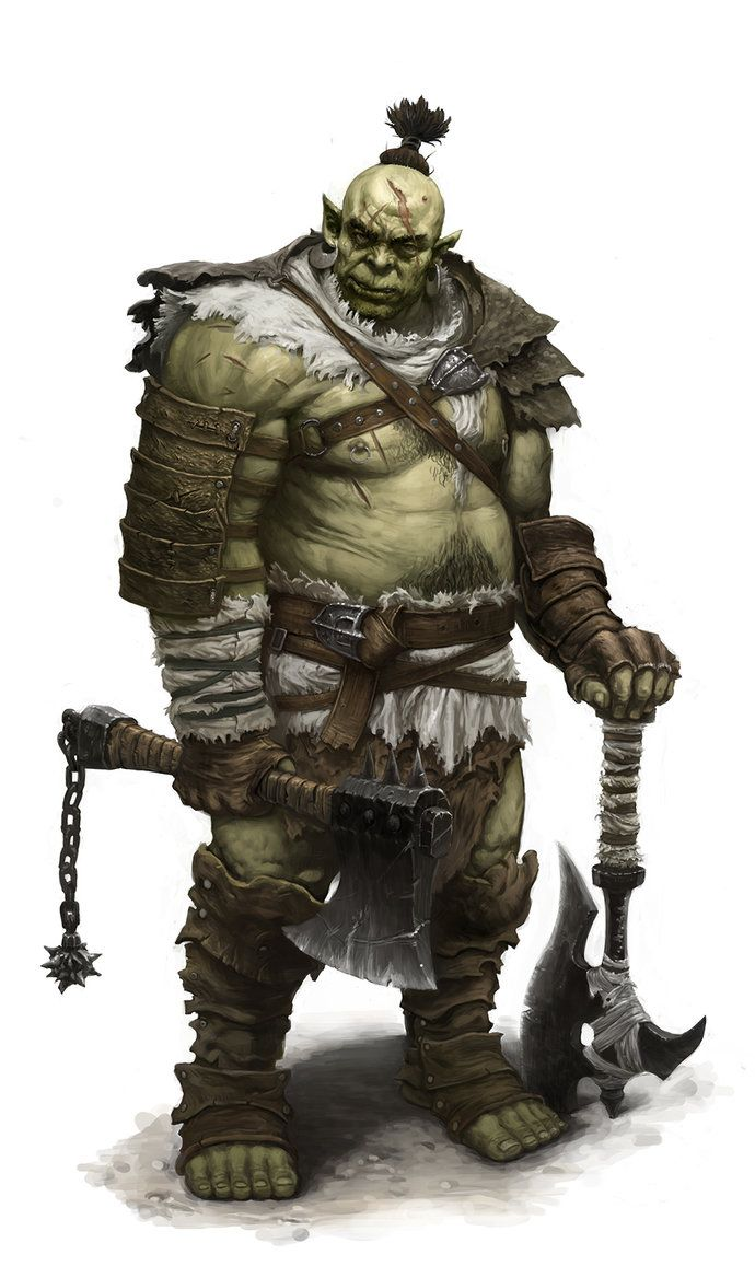 Orc warrior by dimelife on deviantART