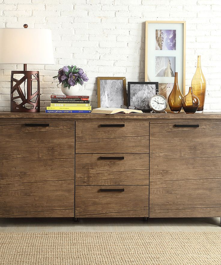 Look At This Rustic Walnut Royale Side Board On #zulily Today!