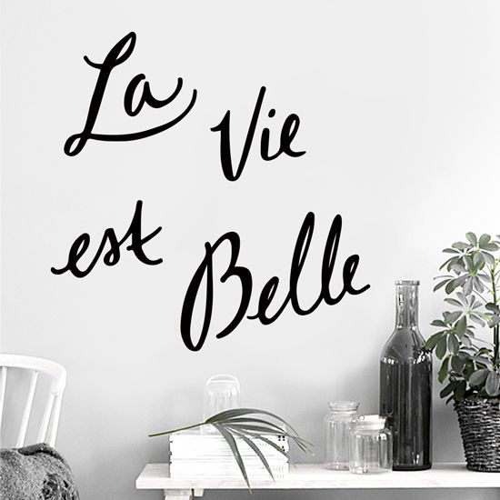 Φτιάξε τη μέρα σου και ζήσε τη ζωή σου όσο πιο όμορφα μπορείς με αυτό το υπέροχο αυτοκόλλητο τοίχου. #lavieestbelle #wallsticker #lavieestbellesticker #walldecoration