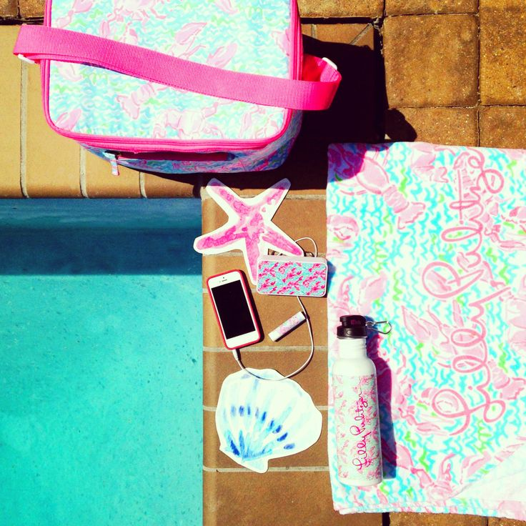 Lilly Pulitzer Splash Into Summer Gifts With Purchase- beach towel, speaker, water bottle and cooler