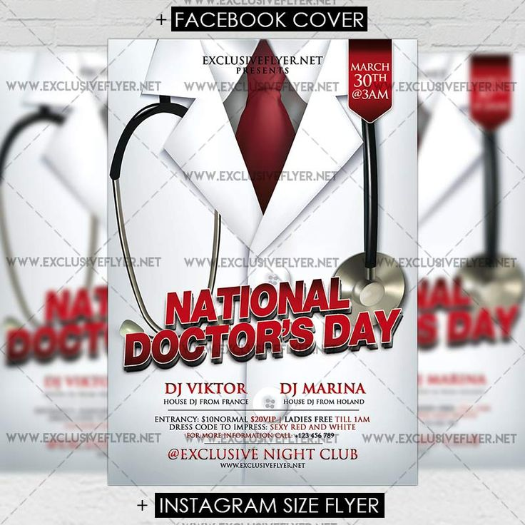 17 best ideas about national doctors day on pinterest for Nurses week flyer templates