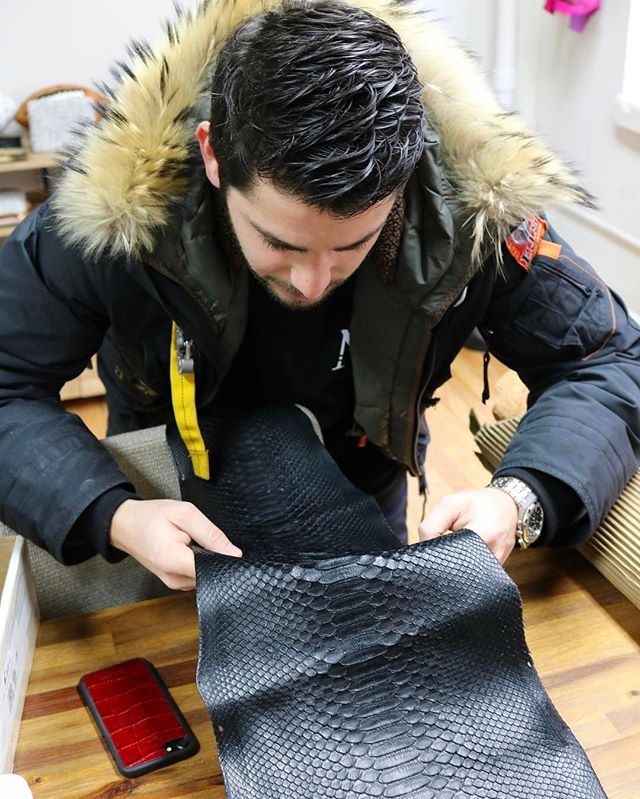 Behind the scenes with our CEO @michael_louis_ inside his New York City factory preparing black Python leather for production of the Michael Louis iPhone 7 & 7 Plus Case. After Michael inspects and confirms the leather for production the leather is then skived to the correct thickness prepared to be cut and then installed - each step of the process is done by hand.  via LUXURY LIFESTYLE MAGAZINE OFFICIAL INSTAGRAM - Luxury  Lifestyle  Culture  Travel  Tech  Gadgets  Jewelry  Cars  Gaming…