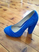 Electric Blue Platform Heels