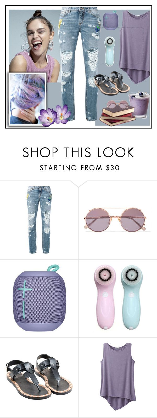 """""""Blueberry Girl"""" by princessbollywood ❤ liked on Polyvore featuring Dolce&Gabbana, Sunday Somewhere, Isabel Marant, prAna, fun, college and purplehair"""