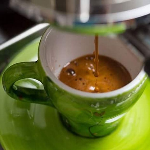 Il caffè sul verde...