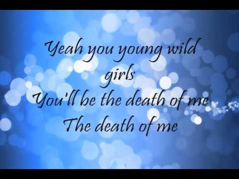 ▶ Bruno Mars - Young Girls (Lyrics) -