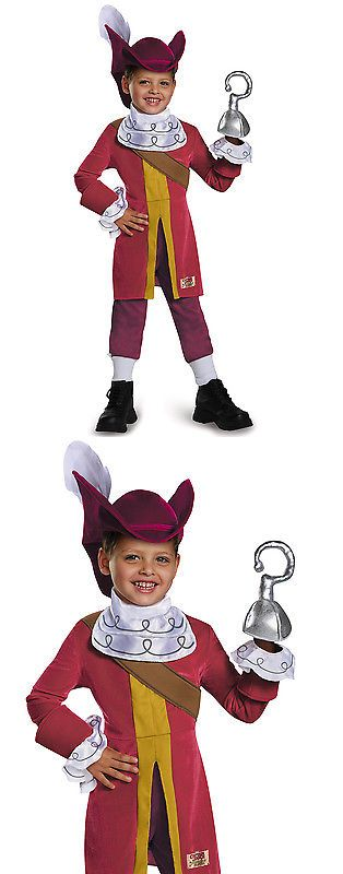 Halloween Costumes Kids: Captain Hook Neverland Pirates Deluxe Disney Boys Costume -> BUY IT NOW ONLY: $36.11 on eBay!