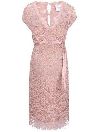 Mama.licious - Světle růžové krajkové šaty  New Mivana - 1