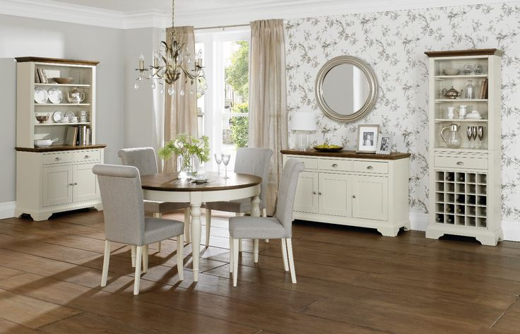 Hampstead Soft Grey And Walnut Dining