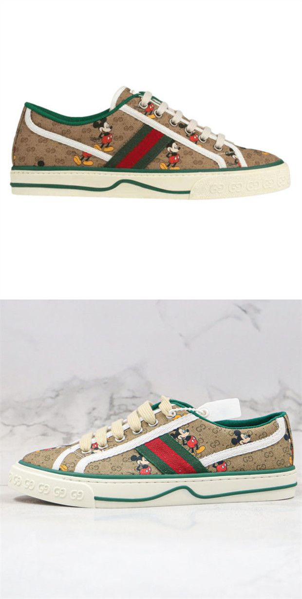Disney X Gucci Wmns Tennis 1977 Mickey Mouse In 2020 Gucci Schuhe Sneaker Herren Gucci