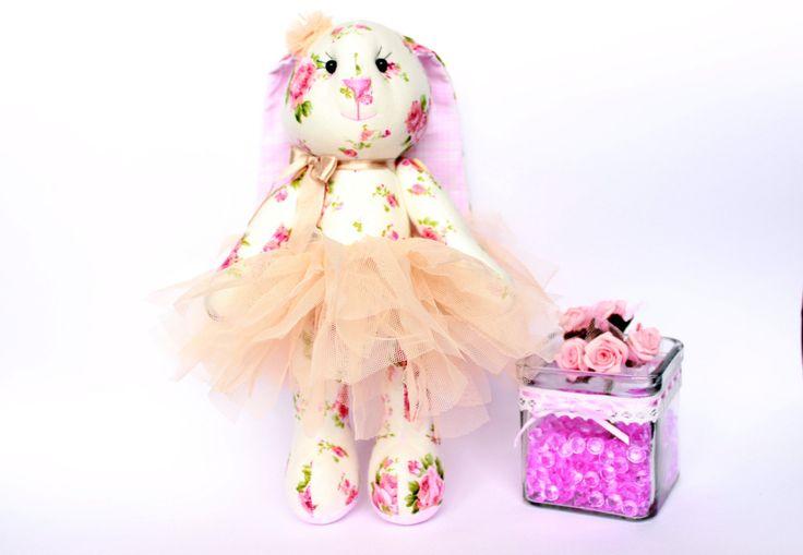 Stuffed Bunny toy in tutu skirt, Cloth bunny doll, Bunny girl, Baby girl gift, Stuffed Animal toys, Plush Bunny toy, Bunny gift by TildaArt on Etsy