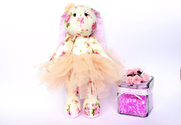 Stuffed Bunny toy in tutu skirt, Cloth bunny doll, Bunny girl, Baby girl gift, Stuffed Animal toys, Plush Bunny toy, Bunny gift by TildaArt on Etsy