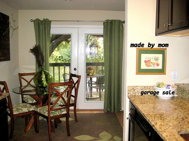 Green Curtains For French Doors