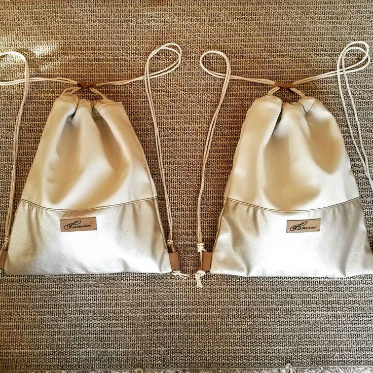 Crema hamdmade gymbag, backpack
